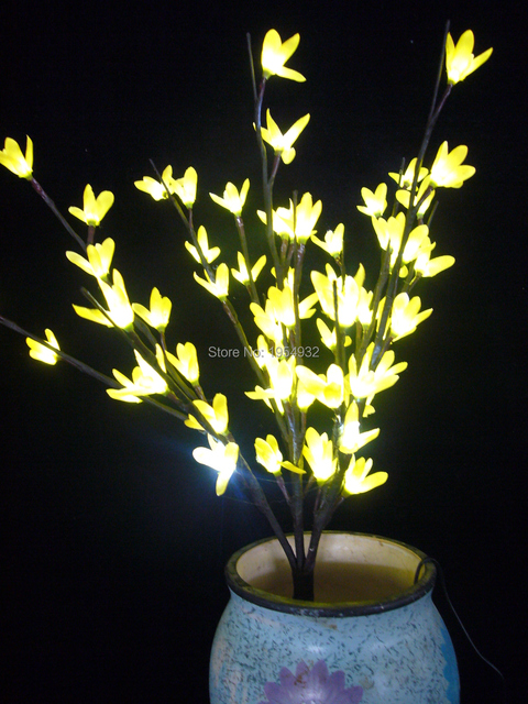 24 V Adaptortype Blossom Forsytia Zweig Licht 20 60 Weisse Led