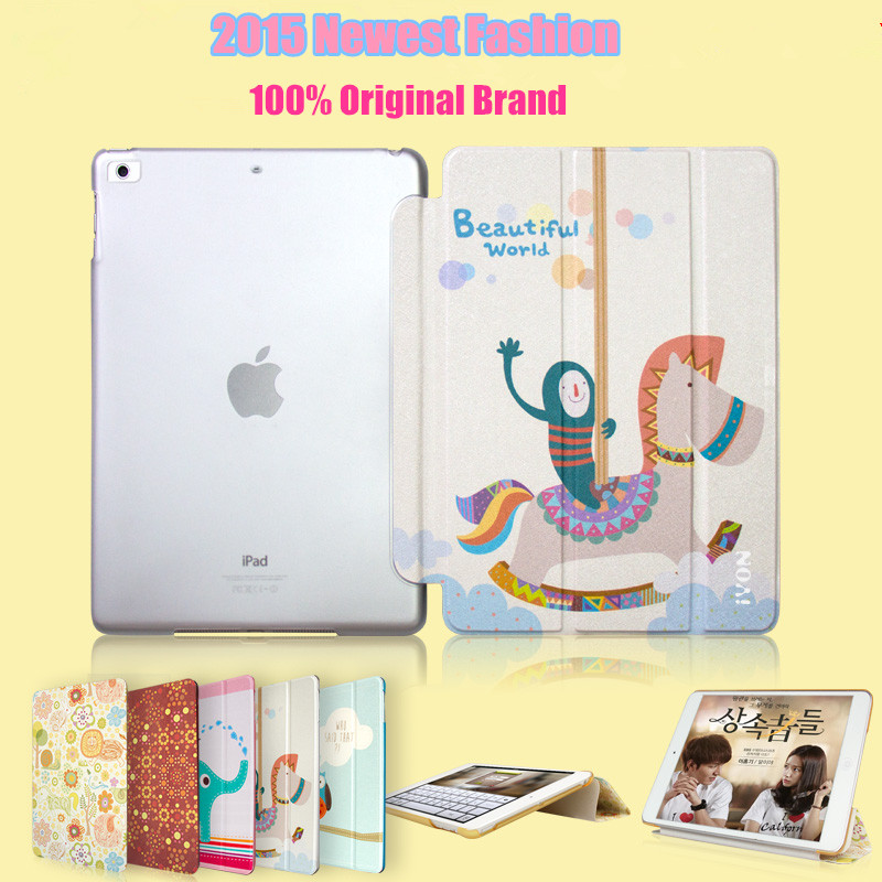 Factory Price Slim Painted PU Leather Flip Smart Case For iPad 5 Air With Auto Sleep & Wake up Funda Air Capa Cover Capinha