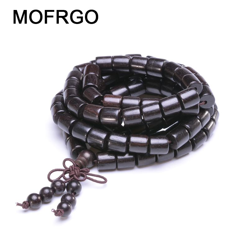 Tibetan Buddhist Buddha Meditation Prayer Bead Bracelet Ebony Wood Multilayers Bracelets For Men Women Yoga 108 Mala Bracelets