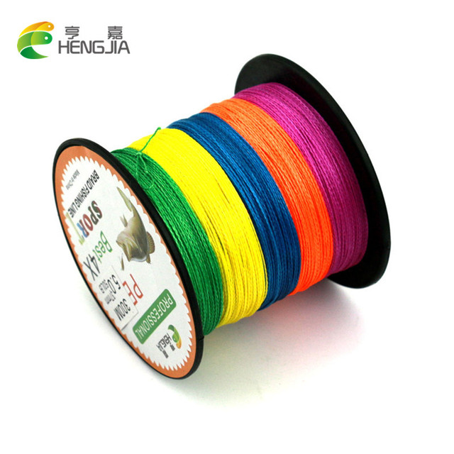 300M HengJia Brand 1pc High Quality Braided Wire Multi-color Super Strong Multifilament PE Braided 15LB-80LB Fishing Line