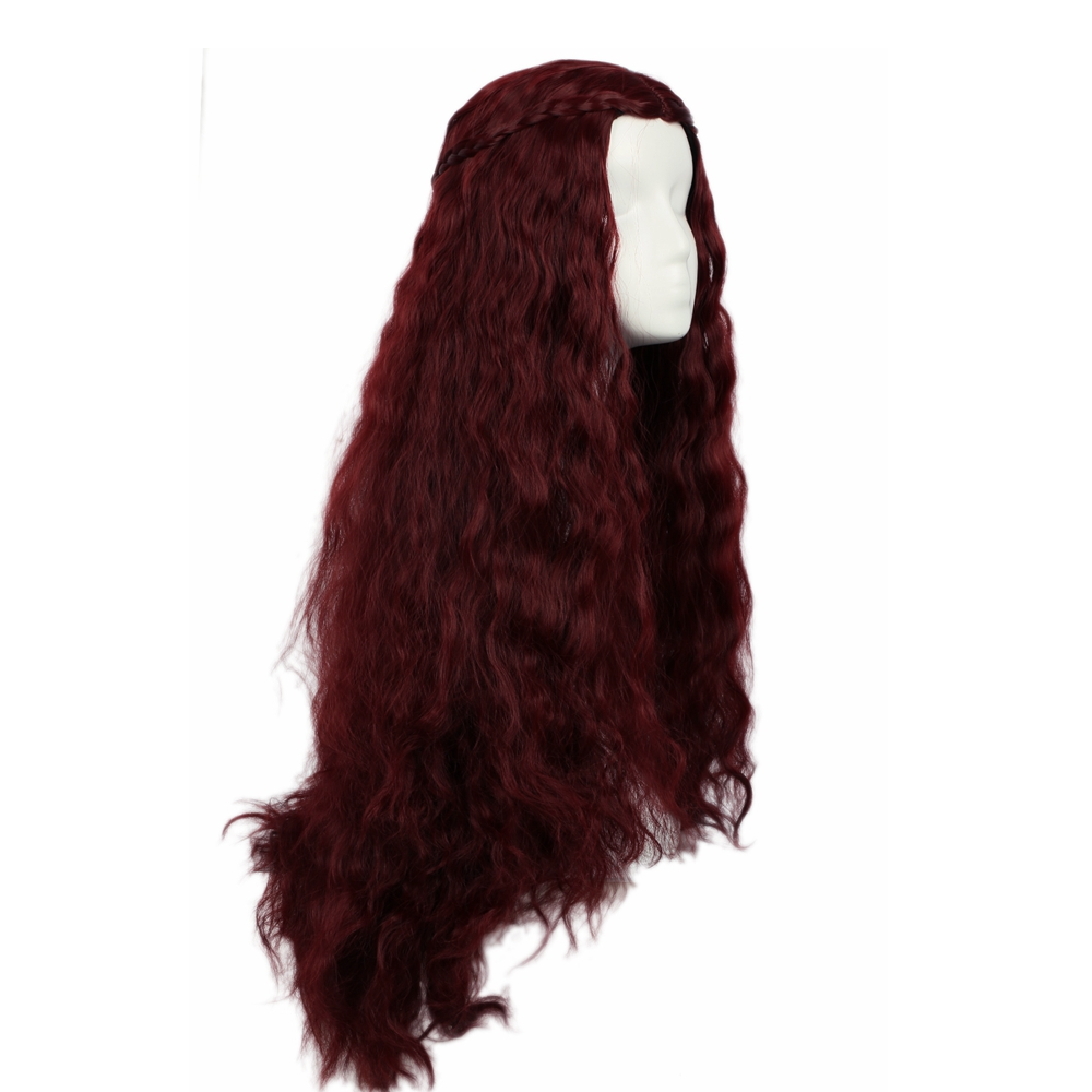 Coslive Halloween Melisandre Hair Game of Thrones Hair Costume Cosplay Long Wavy Curly Hair Accessories