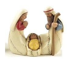 Статуэтки святой семьи, статуэтки Иисуса Иосифа Марии, фигурка младенца для причастия, украшение для крещения, статуя Рождества, настольный подарок для церкви