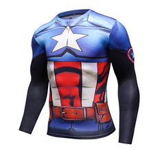 Compression Gym T-shirt Captain America Fitness Jersey 3D Printed Male Shirt Clothing Tights Top Tshirt Men Sportswear  jacket