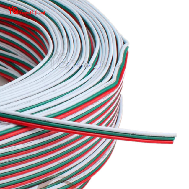 100m/lot 3pin PVC Insulated Wire 18awg Tinned Copper Extension Cable ...