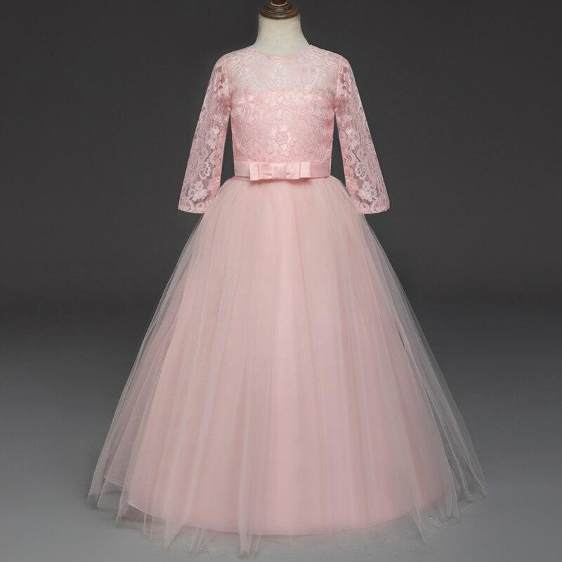 7fbadd5b8240 Teenage Pink Dresse For Girls Sweet Cute Pink Long Sleeve Dresses ...