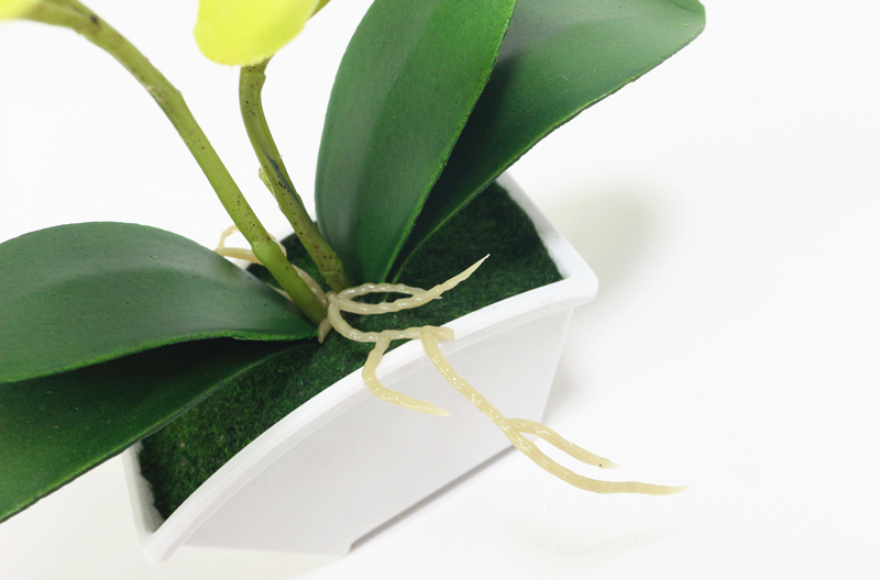 small artificial butterfly orchid flower set with real touch leaves artificial plants overall floral for wedding (15)