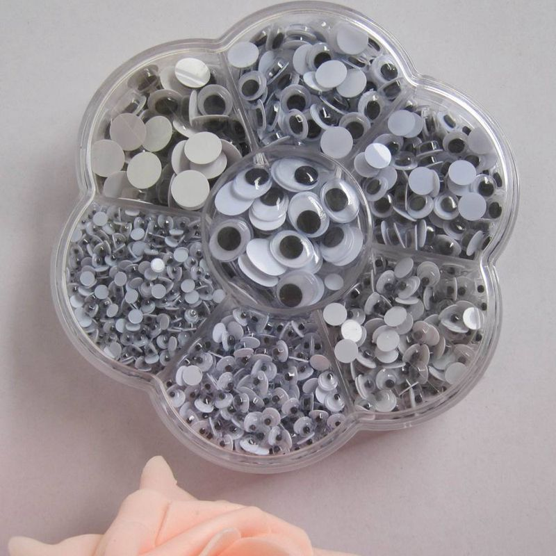 700pcs/box (mix 7 sizes.) Free shipping Plastic eye with self-adhesive The wedding gift decoration/children 00507