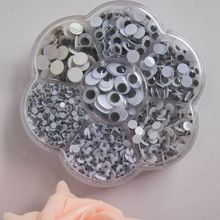 Free shipping Plastic eye with self-adhesive 700pcs/box (mix 7 sizes.)