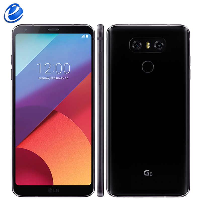 "2017 LG G6 מקורי טלפון נייד 4GB RAM 32GB 64GB ROM יחיד sim H870 H871 כפולה ה-SIM h870DS 4G LTE 5.7 ""13.0MP סלולרי Smartphone"