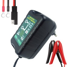 6V/12V Selectable 1.5Amp Car Scooter Motorcycle Battery Charger Maintainer 4-Stage Deep Cycle Smart Battery Warranty 2 Years(China)