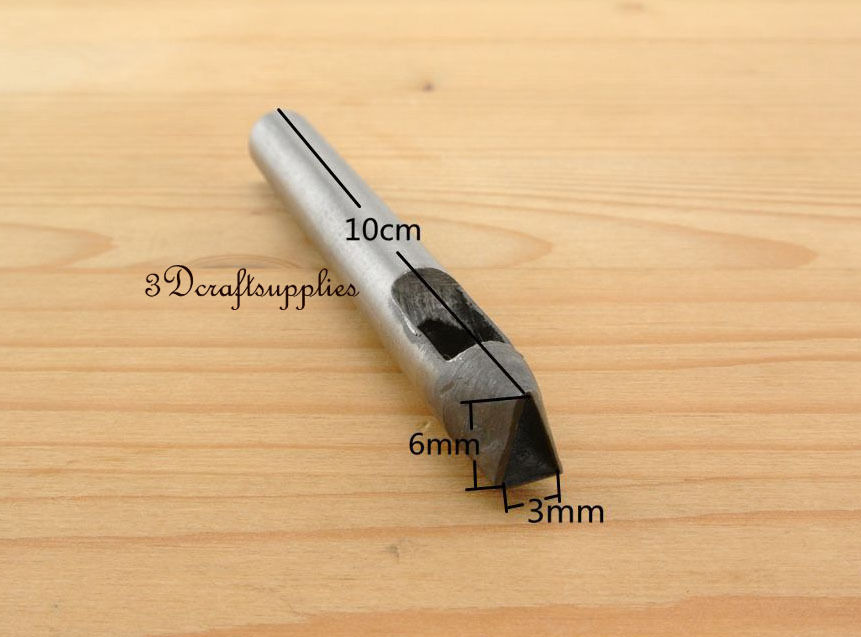 Cutting Die Leather Puncher Hole Gasket Cutter Punch Set Tool Triangle 6 Mm X 3 Mm S139