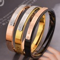 Rectangular Block Double Color Stainless Steel Bangle