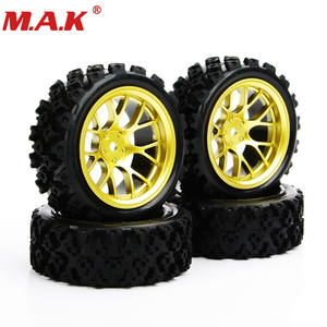 Image 2 - 4pcs/set racing off road tires 12mm hex rubber tyre wheel rim fit for RC 1:10 vehicle car truck toys parts accessories