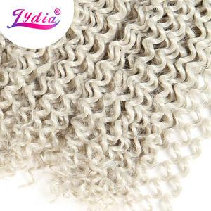 "Image 4 - Lydia Freetress Synthetic Silvergray 28"" 3Pieces/lot Bohemian Crochet Braid Hair Extensions Latch Hook Braiding Hair Bulk"
