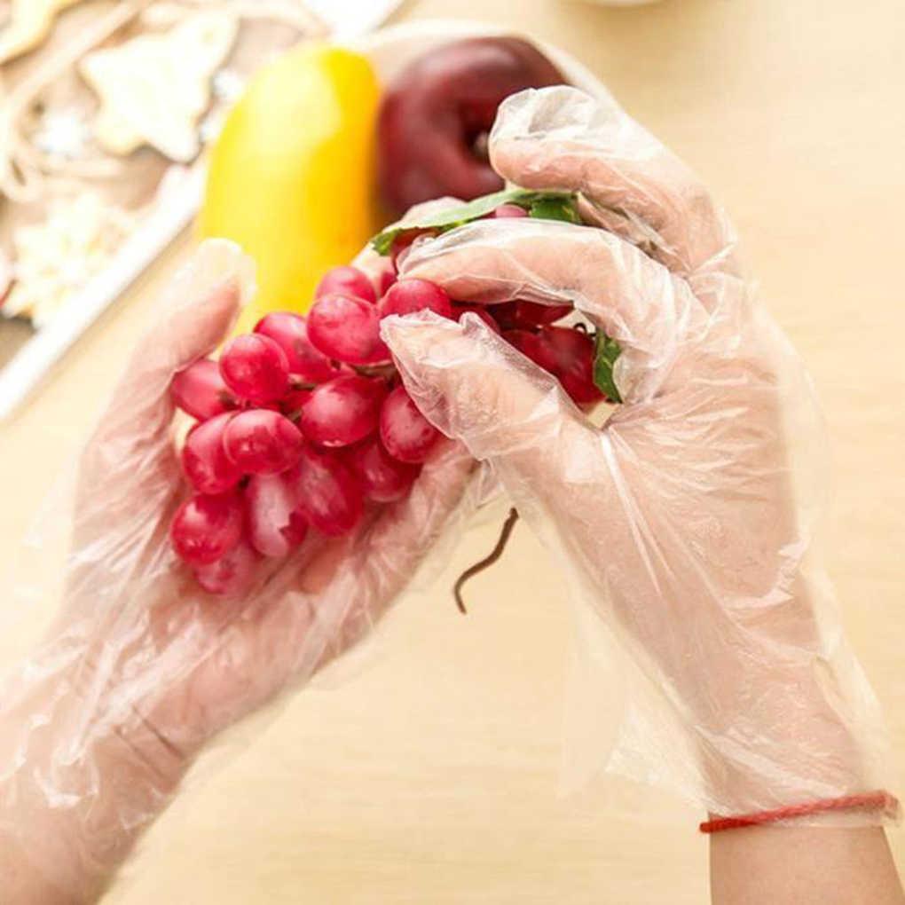 Hot 100 Pcs Sarung Tangan Sekali Pakai Pe Garden BBQ Sarung Tangan Plastik Multifungsi Restoran Dapur Aksesoris