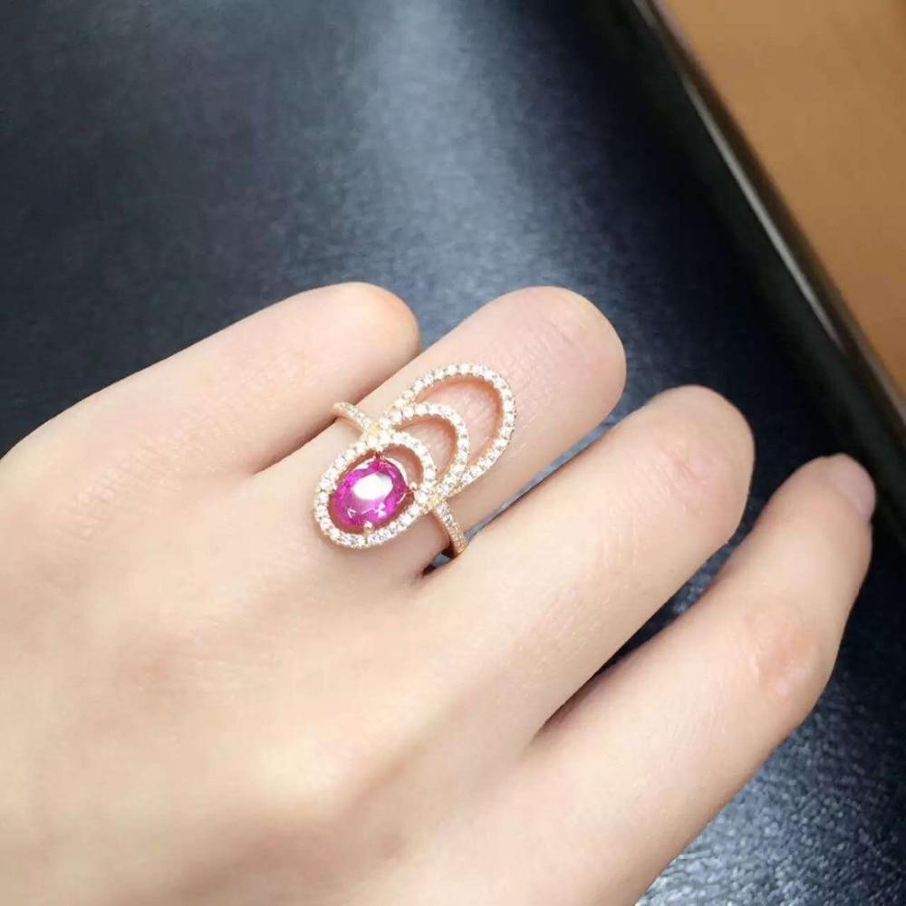 Anillos Qi xuan_mode bijoux _tourmaline pierre élégante femme Rings_Rose or couleur mode rings_fabricant directement ventes