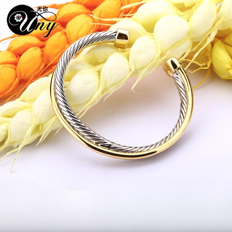 UNY Bangle Antikna upletena križna narukvica Modni dizajner Marka - Modni nakit - Foto 2