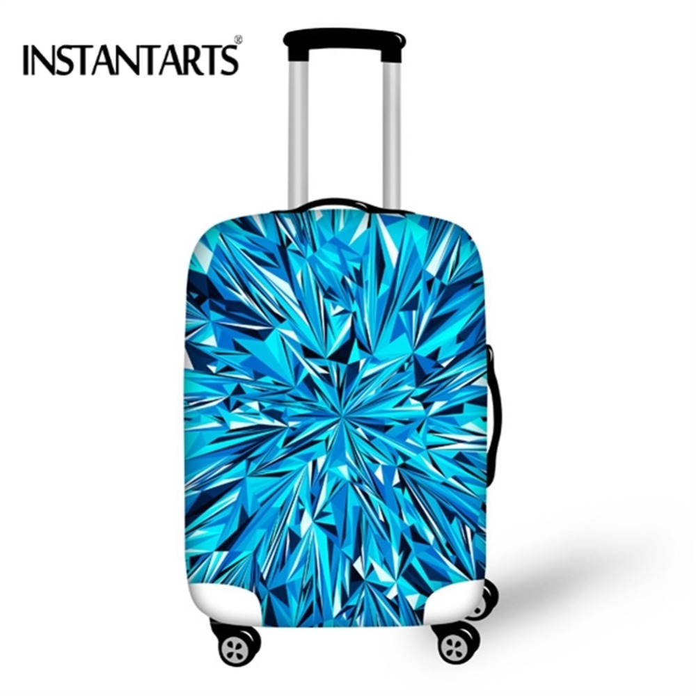 INSTANTARTS Creative Printing Luggage Protective Covers for 18-30 Inch Suitcase Thick Elastic Dust Rain Cover Travel Accessories