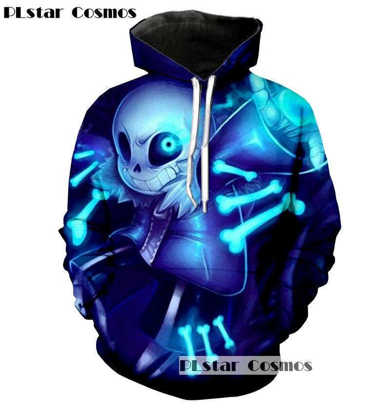 PLstar Cosmos neue Undertale hoodies 2017 neue design Sans muster 3D printing mode für männer frauen hoodies sweatshirts tops