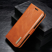 For Samsung Galaxy S8 S8 Plus Genuine Leather Case Wallet Stand Cover Magnetic Case For Samsung