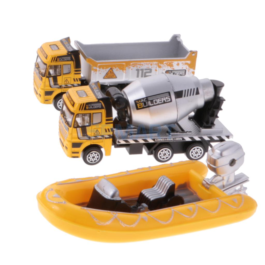 Set of 12 Diecast Vehicles Model Toy Car Truck Aircraft Engineering Vehicle Model Set Kids Boy Toy Gift