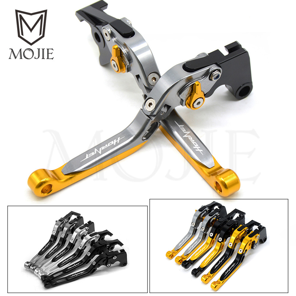 For Honda Hornet 250 2001 Motorcycle Accessories Adjustable Folding Extendable Brake Clutch Levers Set CNC Aluminum With Logo short long brake clutch levers for honda cbr1100xx 97 08 vfr800fi 98 01 st1300 a 03 07 motorcycle adjustable cnc aluminum