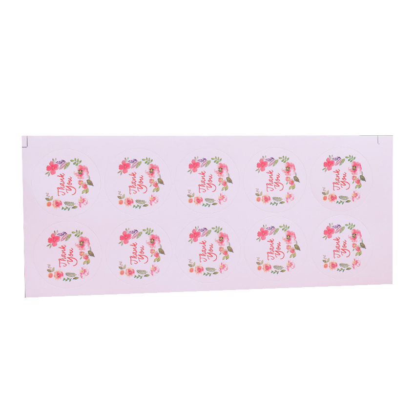 100pcs/pack Thank You Garland Sticker Pack Diary Stationery Stickers Children