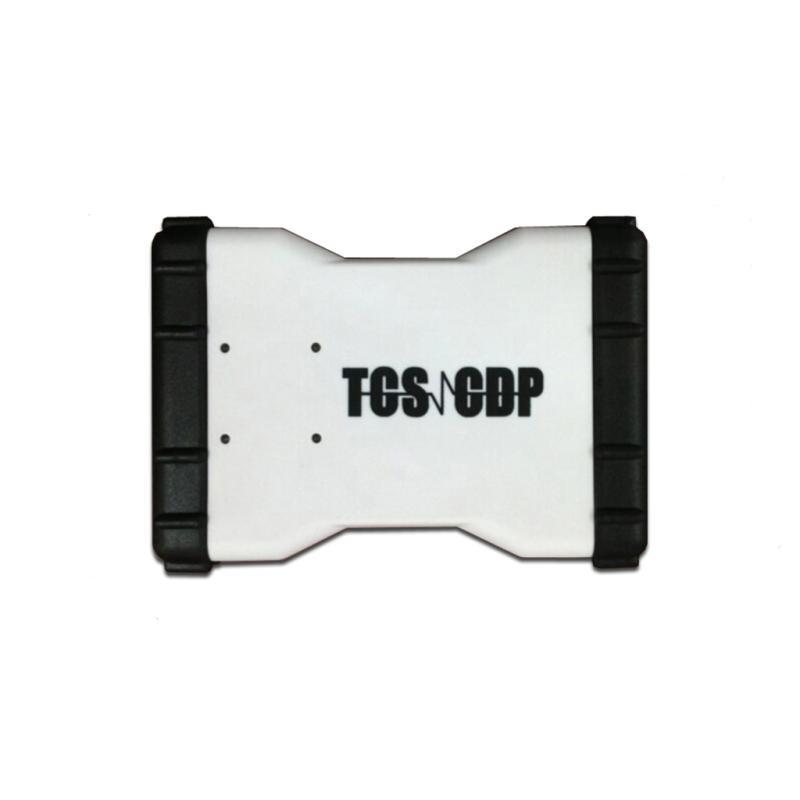imágenes para Más reciente tcs cdp pro Tcs cdp con la más nueva visión 2014.02 gratis activado OBD2 Escáner sin bluetooth multi-idioma azul/blanco