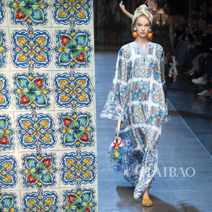 90066b1c2c Wysokiej jakości Krepa krepa jedwabiu Bardzo satynowe tkaniny niebieskie  kwiaty wzory drukuje bluzka sukienka lato style 16 MM 100% jedwabiu tkaniny