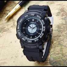 New Men's Fashion Brand Watch Big Dial Activity High Quality Leather Watch Men Sports Watches