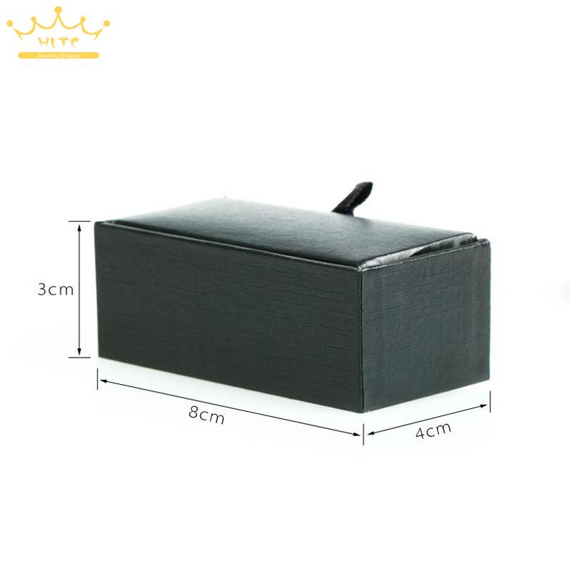 Image 4 - 2015 New! Hot! High Quality Black Faux Leather Small Cufflinks Box 40pcs/lot 8x4x3cm Size Classical Fashion Gift Boxes For Men-in Jewelry Packaging & Display from Jewelry & Accessories