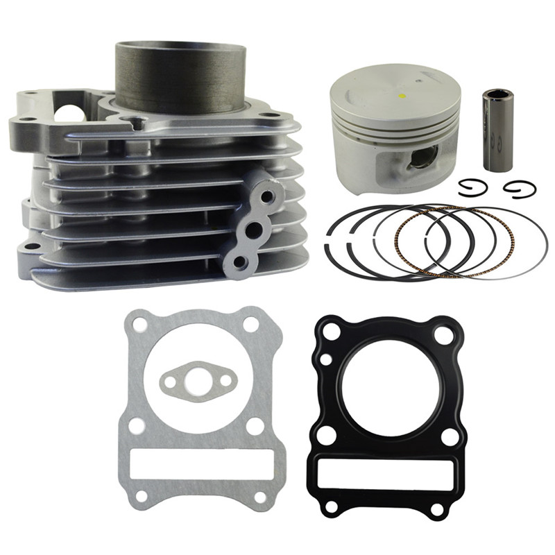 Motorcycle Engine Parts Bore Size 57mm Cylinder For SUZUKI GZ125 GZ 125 Air Cylinder Block & Piston & Cylinder Head Gasket jiangdong engine parts for tractor the set of fuel pump repair kit for engine jd495