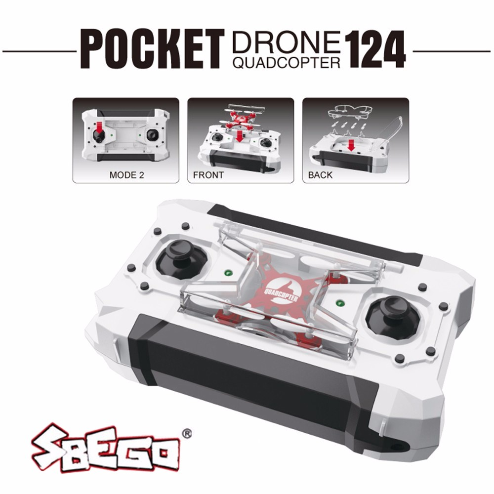 SBEGO FQ777-124 Mini Drone Micro Pocket 4CH 6Axis Gyro Switchable Controller RC Helicopter Kids Toys VS JJRC H37 H31 Quadcopter 17