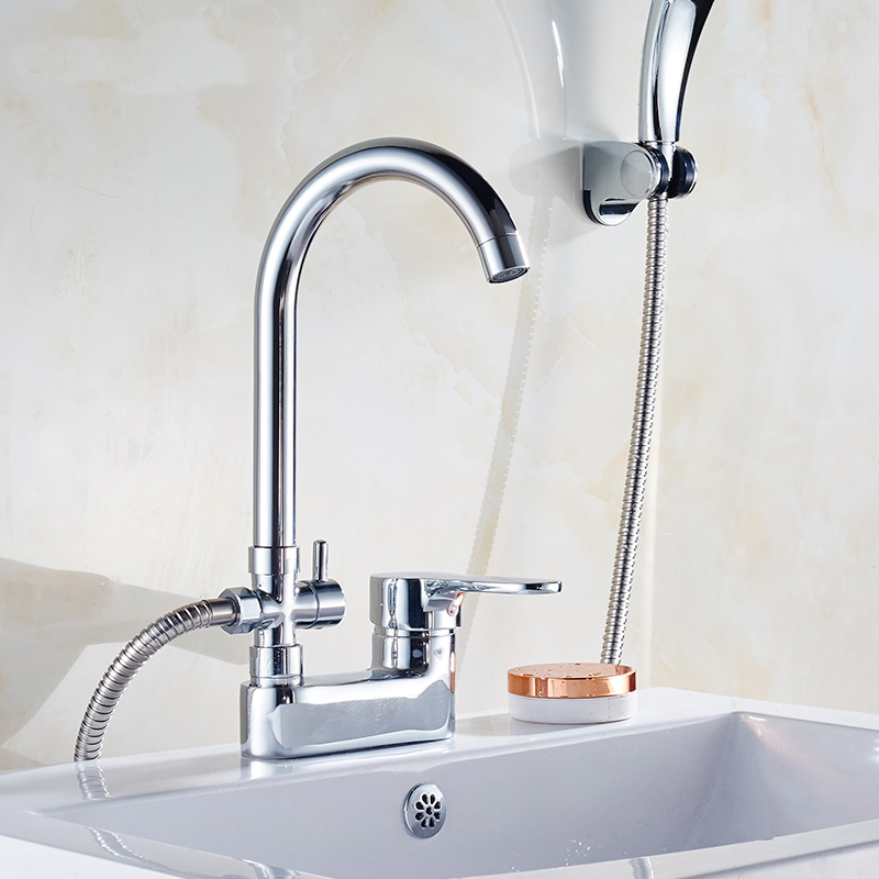 2 Type bathroom shower basin faucet set Chrome shower faucet mixer water tap single handle Copper