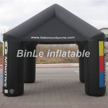 Custom 5m black inflatable square tent air supported cube event tent for exhibition & Square Inflatable Tent Promotion-Shop for Promotional Square ...