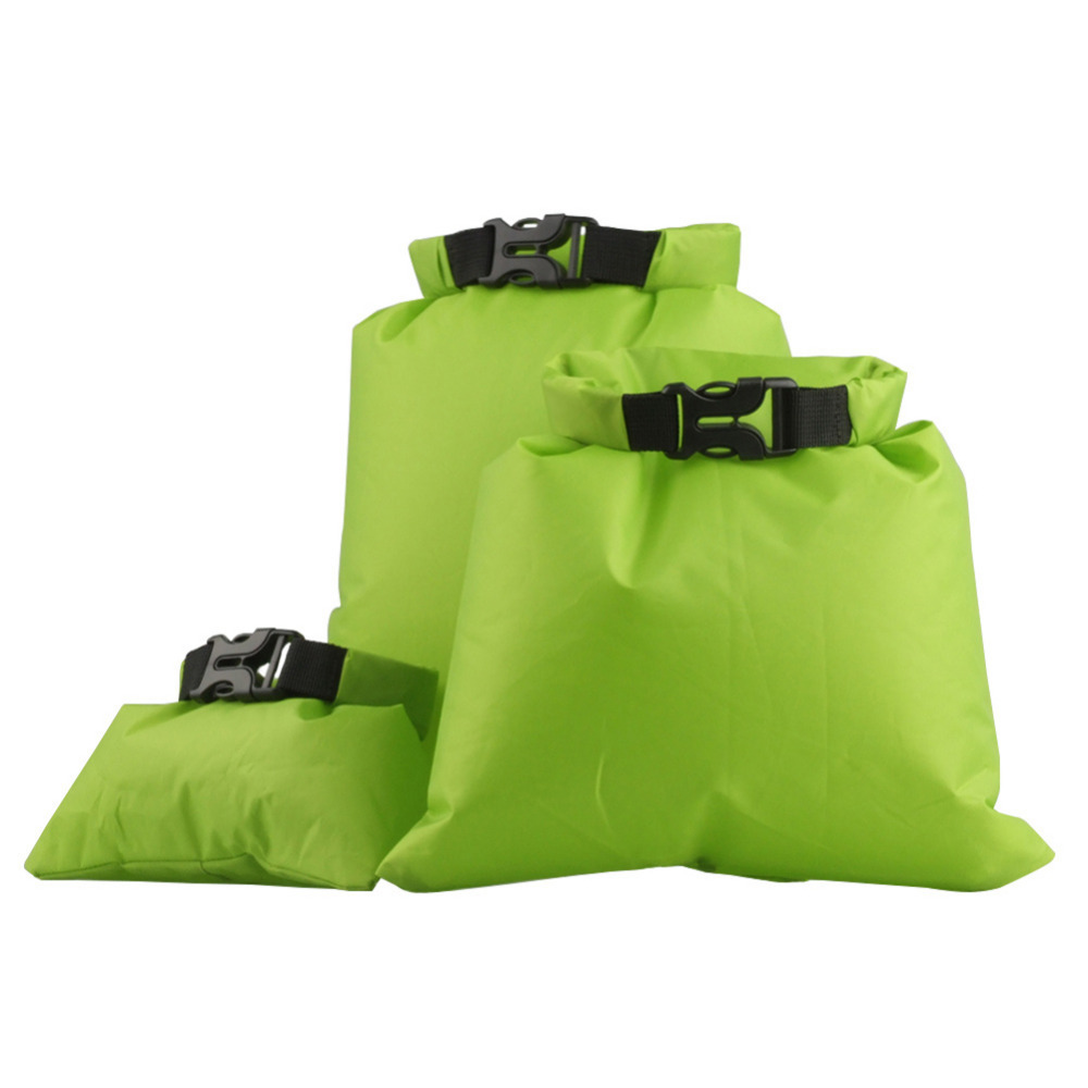 3Pcs Outdoor Swimming Waterproof Bag Camping Canoe Kayak Rafting Sports Storage Dry Bag 1.5L/2.5L/3.5L