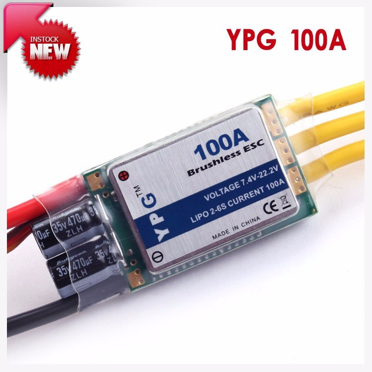 YPG 100A ESC (2 ~ 6 S) SBEC Brushless Speed Controller ESC for Helicopter and Airplane спот globo grosetto 5730 3