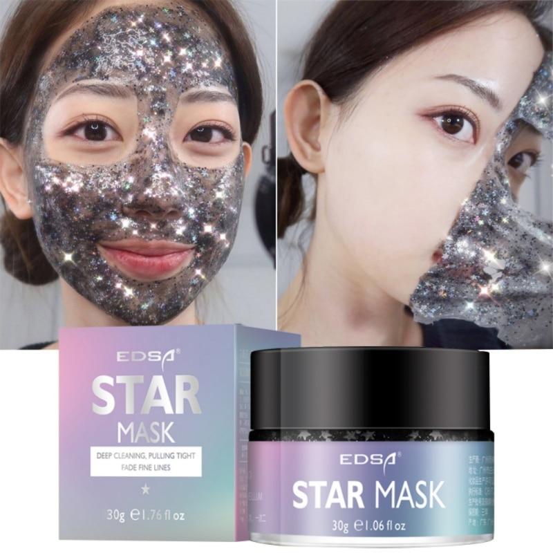 כוכב מסכת גליטר זהב לקלף שחור פנים מסכת שחור נקודות חטט Remover קוריאני פנים פנים מסכות טיפוח עור