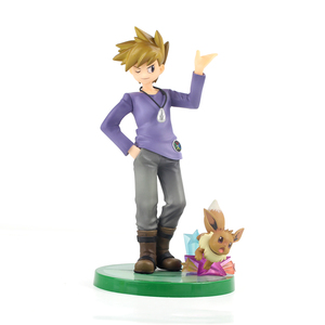 Image 5 - 20cm Anime Trainer Action Figure Gary Oak Lyra Selene Touko Mei Eevee Chikorita Rowlet Tepig Snivy ARTFX Model Toy Gift for Kid