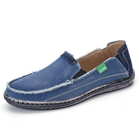 XINGYIDA Men Classic Canvas Shoes 2017 Lazy Shoes Blue Grey Green Canvas Moccasin Men Slip On