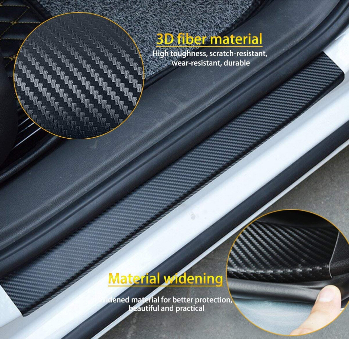 Image 5 - 4pcs Door Carbon Fiber Car Scuff Plate sticker Vinyl Decal sticker for mazda MS mazda 2 mazda 3 mazda 6 M5 cx 5-in Car Tax Disc Holders from Automobiles & Motorcycles