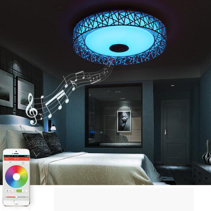 APP LED Plafondlamp Met Bluetooth speaker 24 W Muziek Party Lamp ...