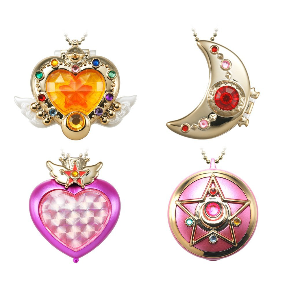 Shokugan Miniaturely Tablet Sailor Moon Part 3 Full Set 4Pcs 100% Original original bandai shokugan sailor moon butterfly ribbon charm key chain sailor moon