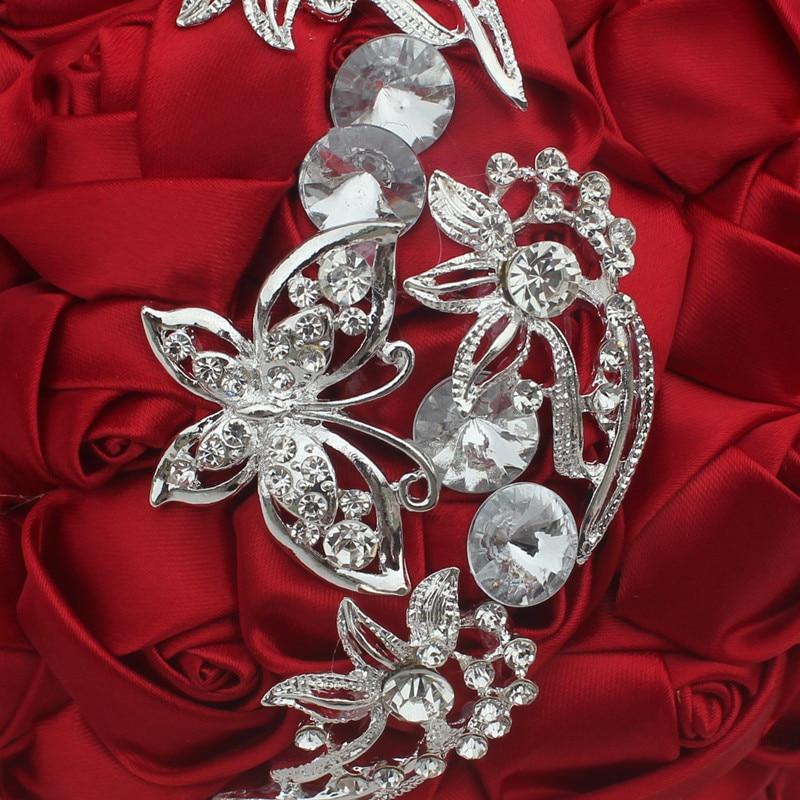 Image 5 - Wifelai um 1pc vinho vermelho seda rosa borboleta diamantes  broche casamento bouquet nupcial mariage flor ponto bouquet de casamento  w2216wedding bouquet bridalwedding bouquetbouquet bridal -