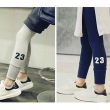 New Autumn Summer New Style Fashional Wear-resistant Breathable All-match Elastic Girl Leggings