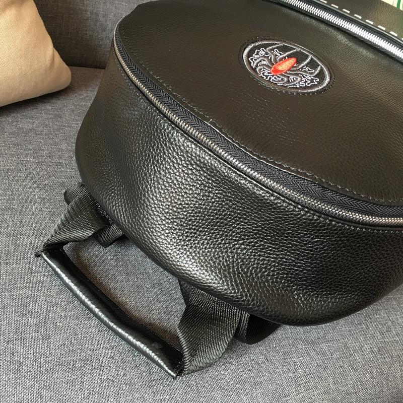 Kaisiludi cuir double sac à bandoulière grande capacité sac à dos hommes et femmes sac d'ordinateur affaires simple sac de voyage - 5