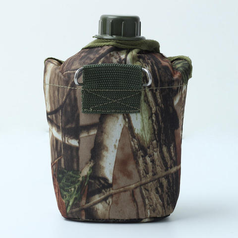 Hot 860ml Water Bottles Camouflage Cloth Army Green Plastic Sports Water Bottle for Survival Kitchen Home Kettle Outdoor Sports Multan