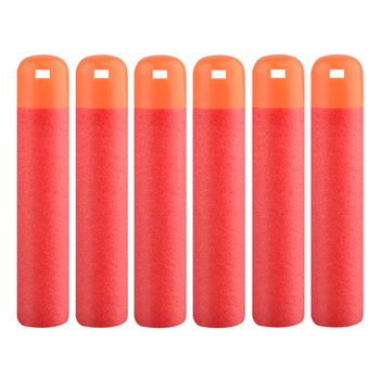 6 Pcs/Lot 9.5cm Red Sniper Rifle Darts Bullets Big Hole Head Bullets Xmas Gift For Nerf Mega Kids Toy Foam Refill Darts image
