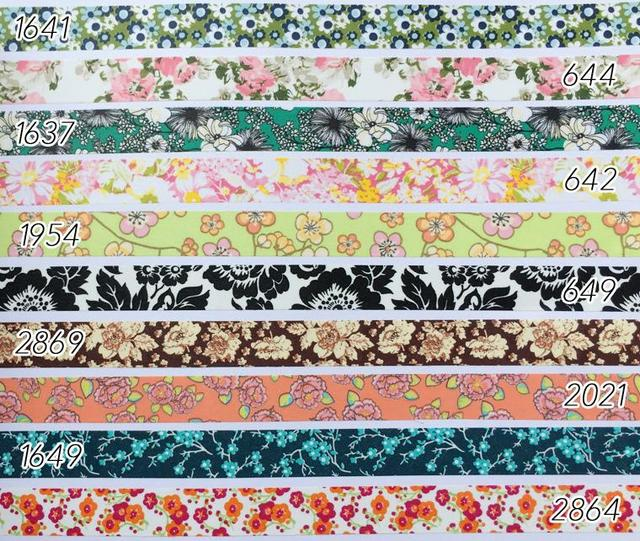 Buy beautiful floral washi tape 10m for Bande adhesive decorative