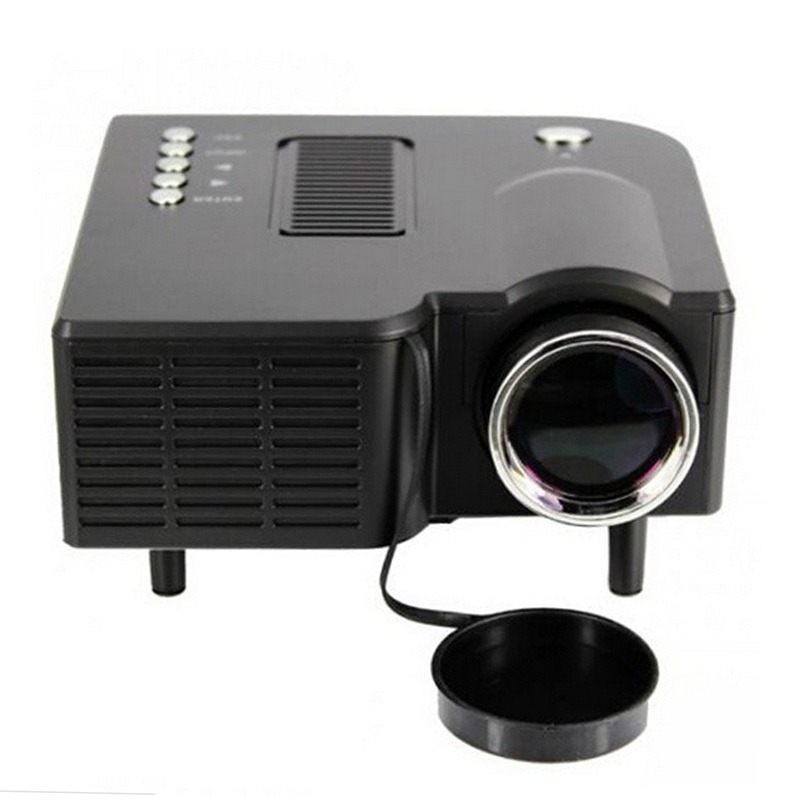 Black US Pug UC28 Mini Pico Projector Home Cinema Theater Digital LED LCD Projector VGA/USB/SD/AV/HDMI Multimedia Proyector mini portable home cinema theater 1080p multimedia usb led projector laptop av vga sd hdmi us adapter